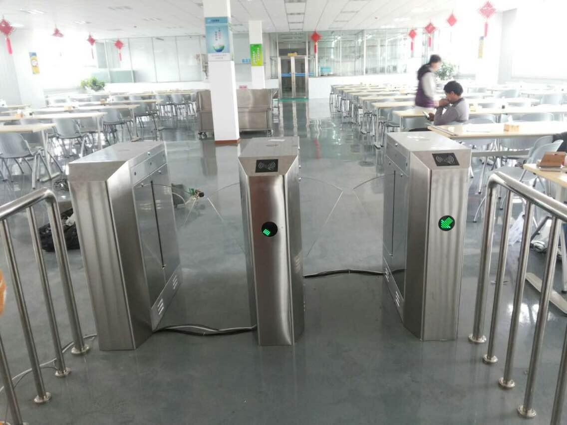 大连西中岛石化园区饭堂出入口通道闸系统